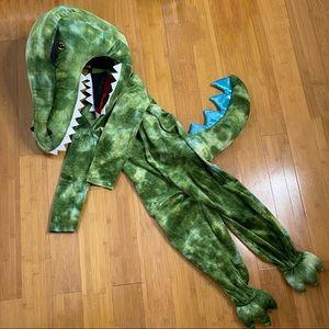 Pottery Barn Kids Light Up T-Rex Costume green 4-6